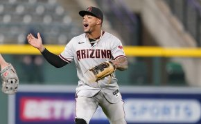 Arizona Diamondbacks center fielder Ketel Marte celebrating