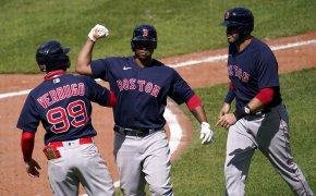 Rafael Devers, Boston Red Sox, Celebrate