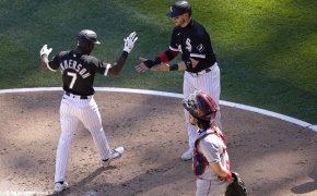 Tim Anderson, celebrates, Chicago White Sox