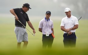 Phil Mickelson and Bryson DeChambeau at the U.S. Open