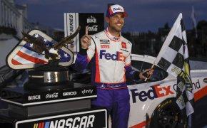 NASCAR Quaker State 400 Odds - Larson, Hamlin and Busch