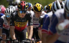 Wout Van Aert riding in the peloton at the Tour de France