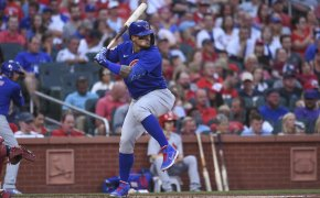 Javier Baez at the plate