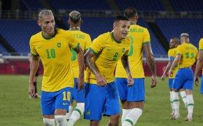 Brazil players celebrating
