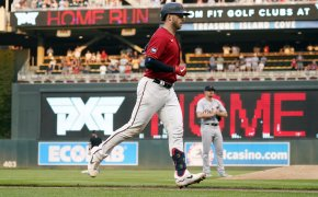 Minnesota Twins' Mitch Garver rounding the bases after a grand slam