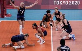 United States players celebrate