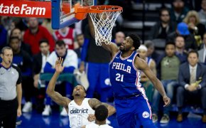 Embiid dunking