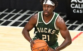 Jrue Holiday looks for a teammate