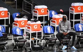 Kevin Durant sitting