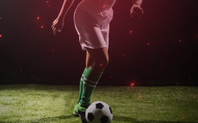Image of person dribbling a soccer ball