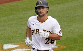 Pittsburgh Pirates' Adam Frazier trots home after hitting a solo home run