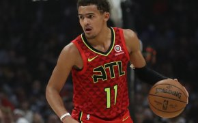 Trae Young dribbling