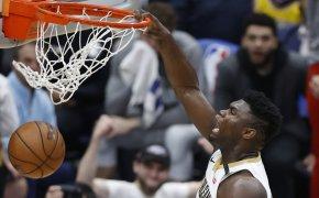 Zion dunking
