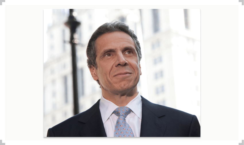 Governor Andrew Cuomo in suit and tie