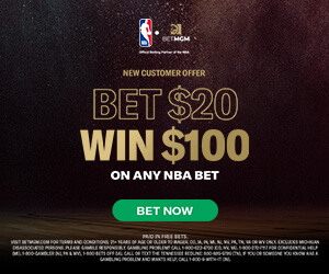 bet 30 win 100 on any nba game