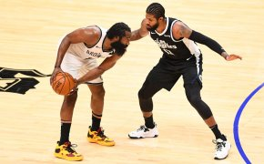James Harden defended by Paul George