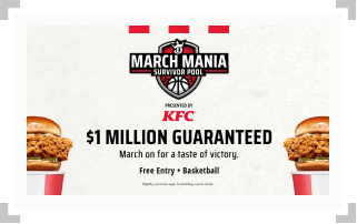 Screenshot of DraftKings March Mania Survival Pool contest