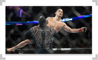 Frankie Edgar lifted up in UFC octagon