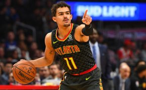 Trae Young pointing