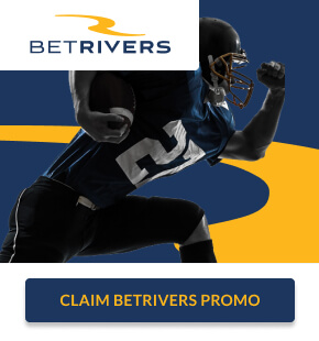 """BetRivers Sportsbook ad with """"Claim BetRivers Promo"""" button"""