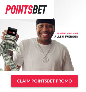 """PointsBet Sportsbook ad with """"Claim PointsBet Promo"""" button"""