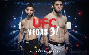 UFC Vegas 31 odds - Makhachev vs Moises