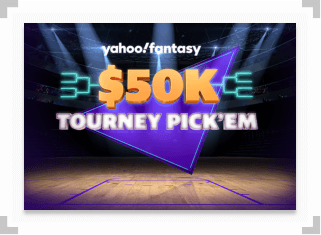 Screenshot of Yahoo Tourney Pick'Em contest