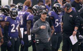 Baltimore Ravens on sideline