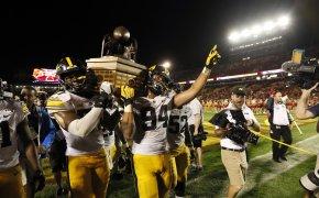 Iowa players celebrate