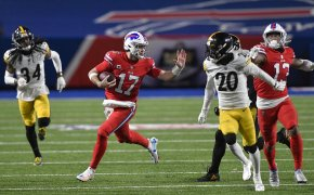 Josh Allen running