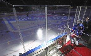 Igor Shesterkin walking onto ice