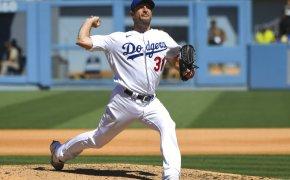 Los Angeles Dodgers Max Scherzer pitching