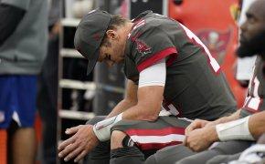 Tom Brady dejected on the sidelines