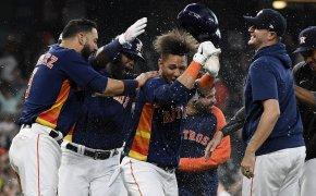 Houston Astros home plate celebration