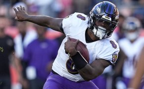 Lamar Jackson running with ball