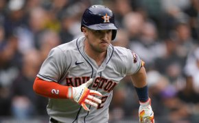Alex Bregman races out of the batters box