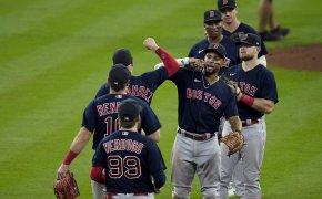 Boston Red Sox Game 2 celebration