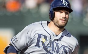 Rays outfielder Kevin Kiermaier rounding the bases