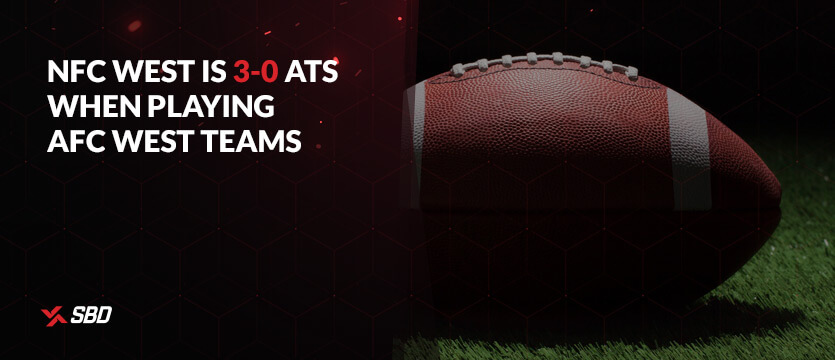 NFC West is 3-0 ATS when playing AFC West teams