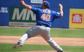 Bartolo Colon delivering a pitch