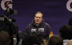 Bill Belichick at a press conference
