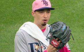 Blake Snell pitching for the Rays
