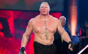 Brock Lesnar walking to the WWE ring