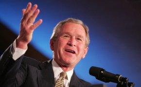 George W Bush speaking