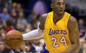 Kobe Bryant dribbling a basketball