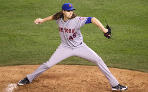 Mets ace Jacob deGrom on the mound