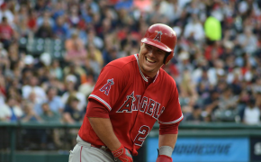 Mike Trout laughing