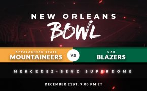New Orleans Bowl Appalachian State Mountaineers vs UAB Blazers