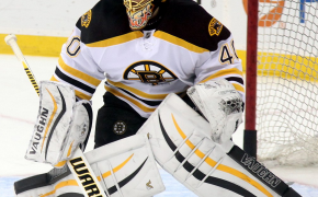 Tuukka Rask in net for the Boston Bruins