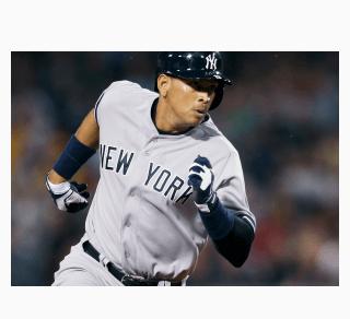 Alex Rodriguez running bases